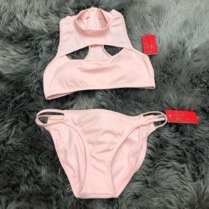 Gossip   Halter Bikini Set   Pink   Size M